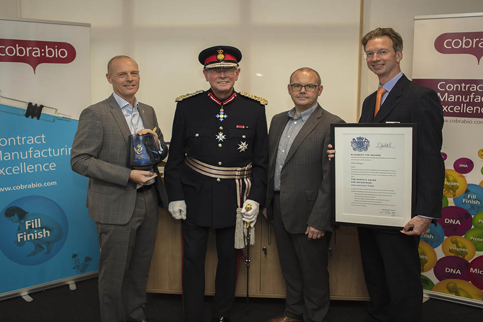 Keele University Science and Innovation Park tenant awarded the Queen's Award for Enterprise in International Trade