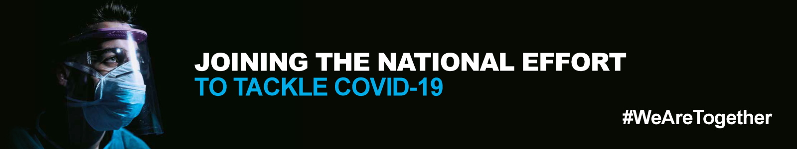 Joining the national effort to tackle Covid-19