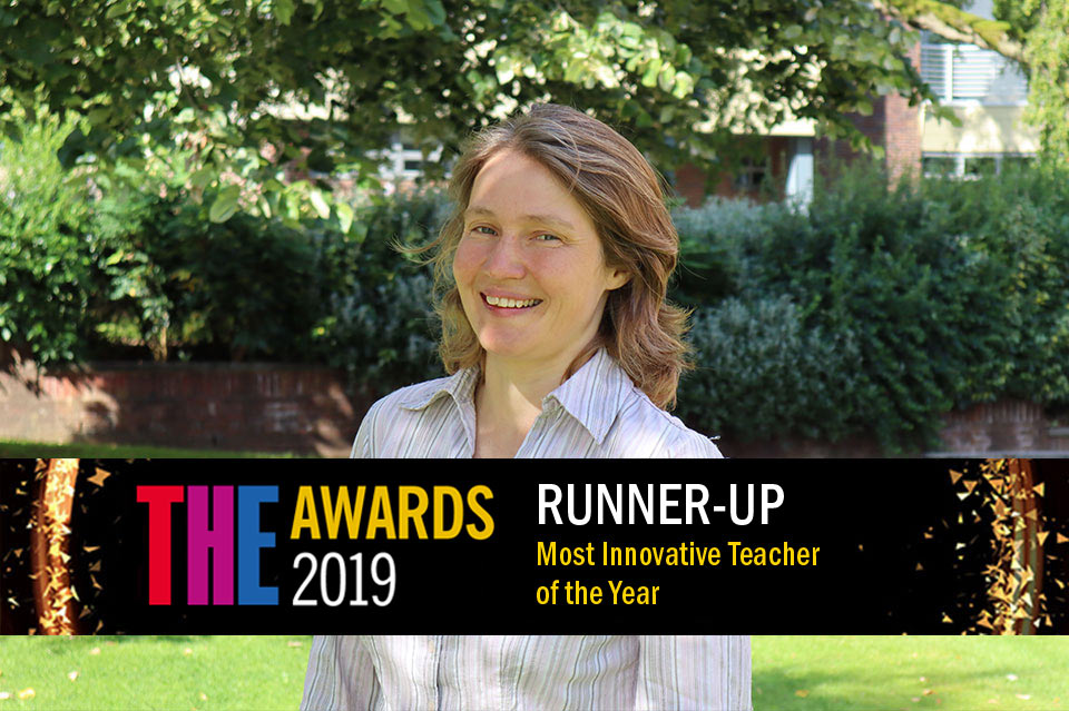 Keele's Professor Zoe Robinson: Most Innovative Teacher of the Year 2019 Runner Up