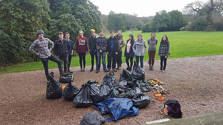 Student litter pickers