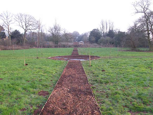 New paths in Memorial Garden