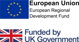 ERDF and UK Government logos