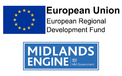 ERDF and Midlands Engine logo