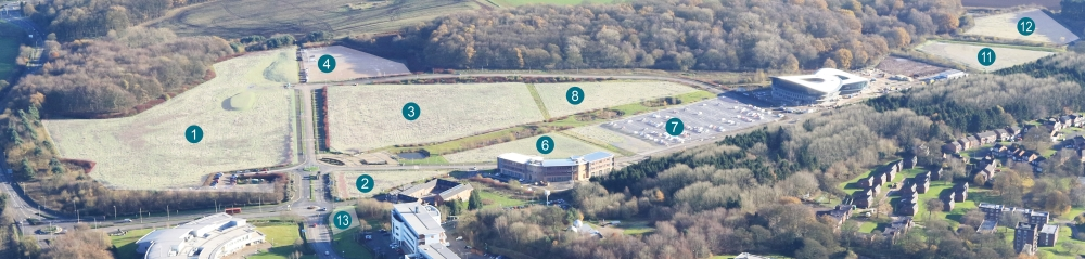 Aerial photo of Keele University Science and Innovation Park