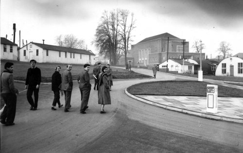 Campus roundabout 1957