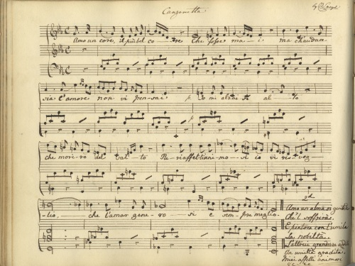 Canzonetta composed by Charlotte Augusta Sneyd c.1823 [Sneyd Music S194/33]