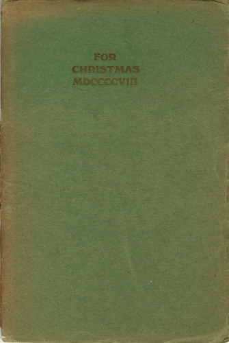 For Christmas, MDCCCCVIII with Autumn by T E Hulme [HUL 18]