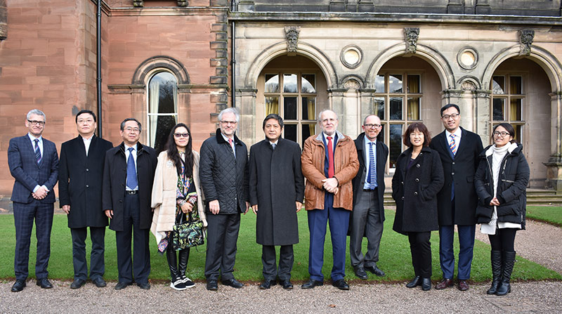 BFSU delegation visiting Keele 2018