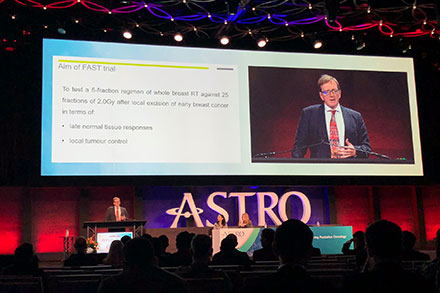 Professor Murray at ASTRO