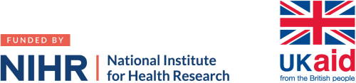 NIHR and UK Aid logos