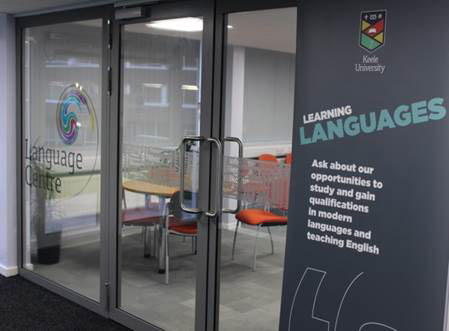 The entrance to the Language Centre at Keele University