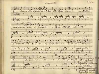 Canzonetta composed by Charlotte Augusta Sneyd c.1823 