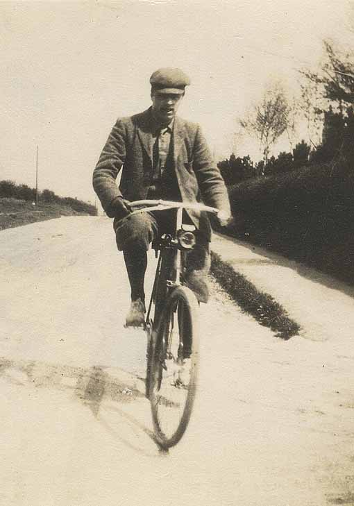 Arnold Bennett on a Bicycle