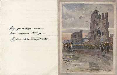 J C Wedgwood Ypres New Years card p.2
