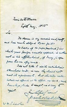 Dickens letter