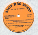 1965 Rag Record No 2 Orange Side 1 close-up