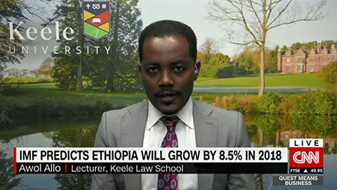 Dr Awol Allo on CNN