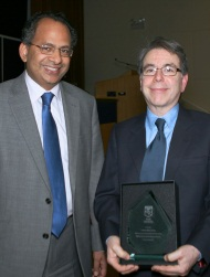 Professor Robert Ladrech with Vice-Chancellor at inaugural