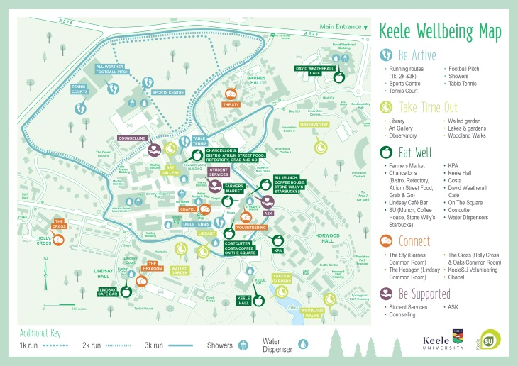 Keele University Map Keele Wellbeing Map   Keele University Keele University Map