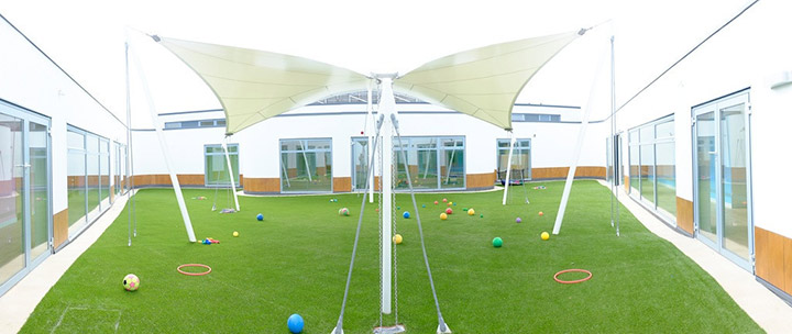 Nursery building and play area