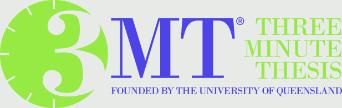 Three Minute Thesis Logo - Founded by University of Queensland, 1234x390