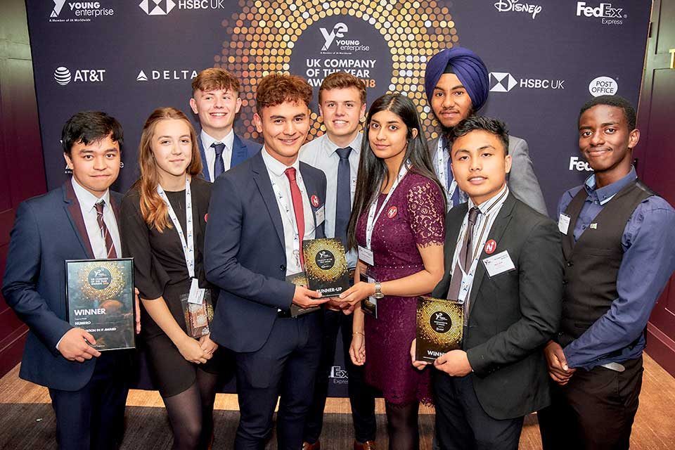 Sixth form students collaborate with Keele University to win at Young Enterprise Company of the Year awards 2018