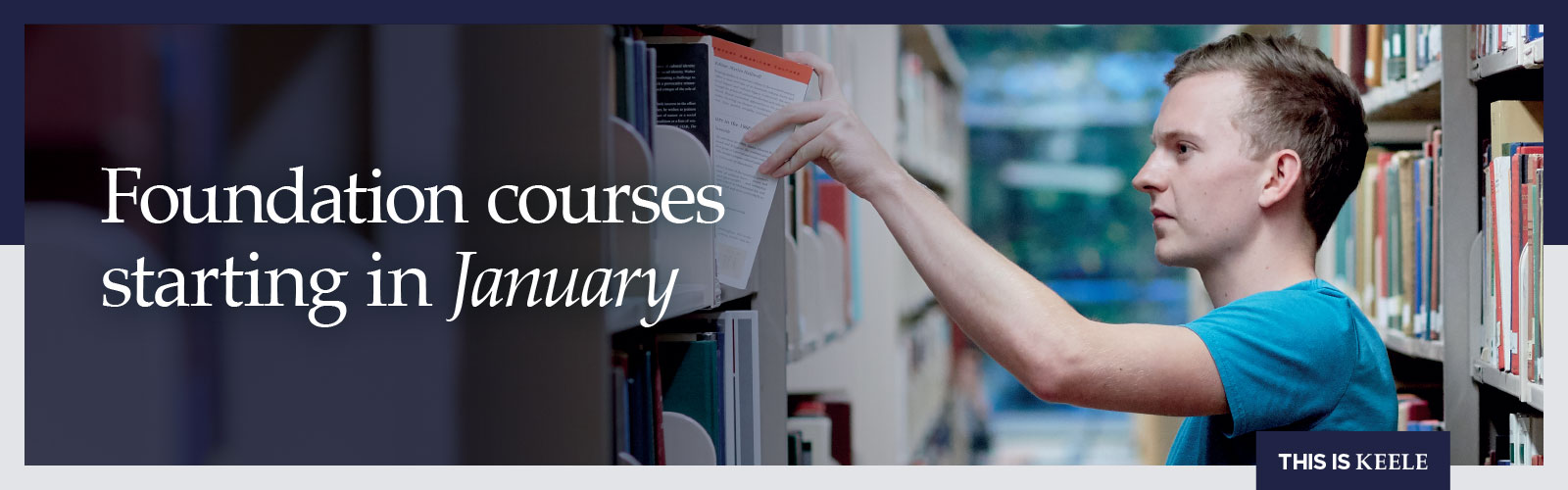 Foundation year courses starting in January