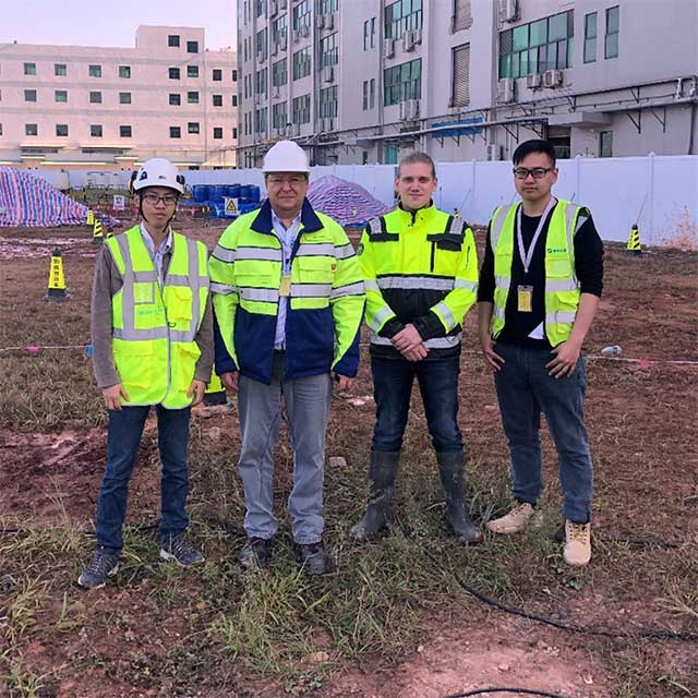 A project in GuangZhou, working with a Finnish company