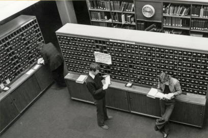 Library catalogue 1960s