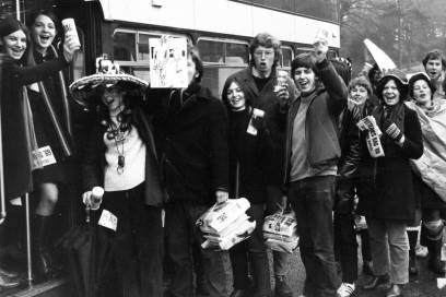 Student collecting team 1970s
