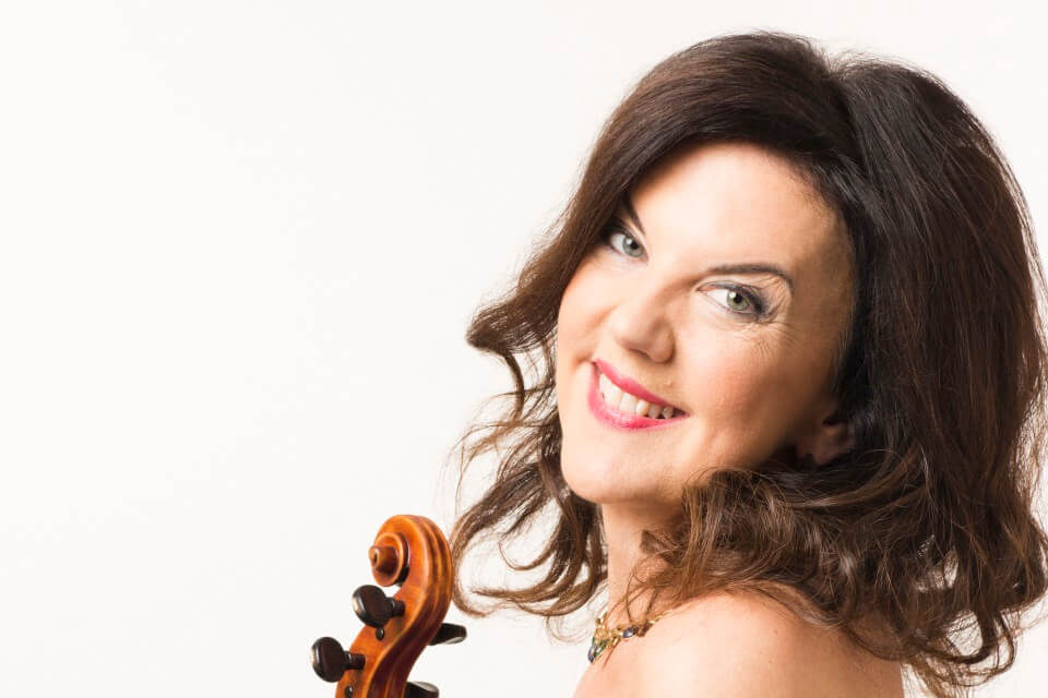 Solo violinist Tasmin Little performs at the New Vic Theatre