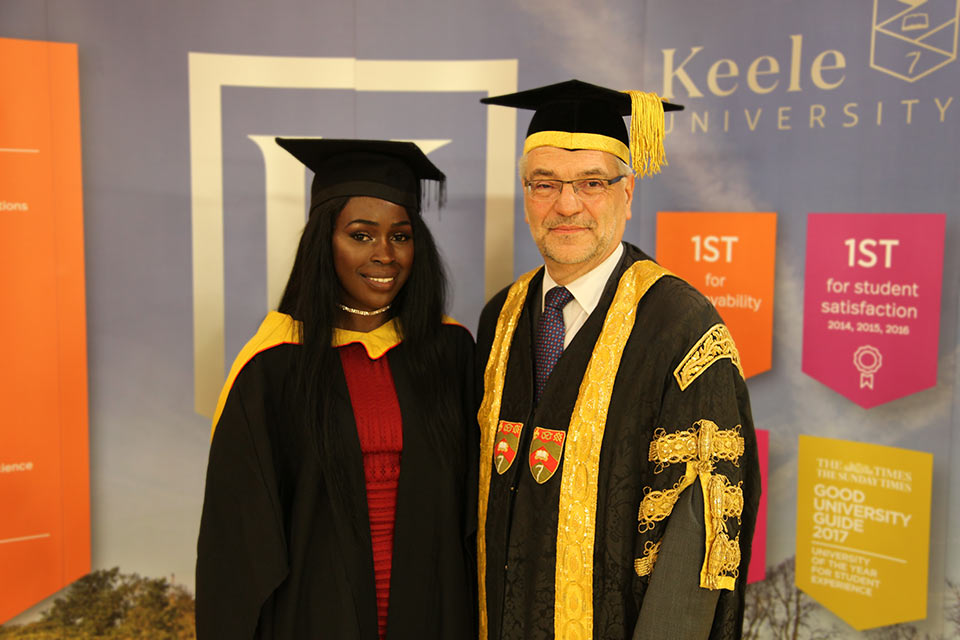 Keele University's first Article 26 student graduates