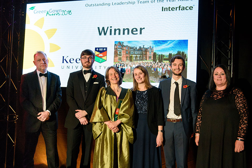 Keele wins 'Outstanding Leadership Team of the Year' award