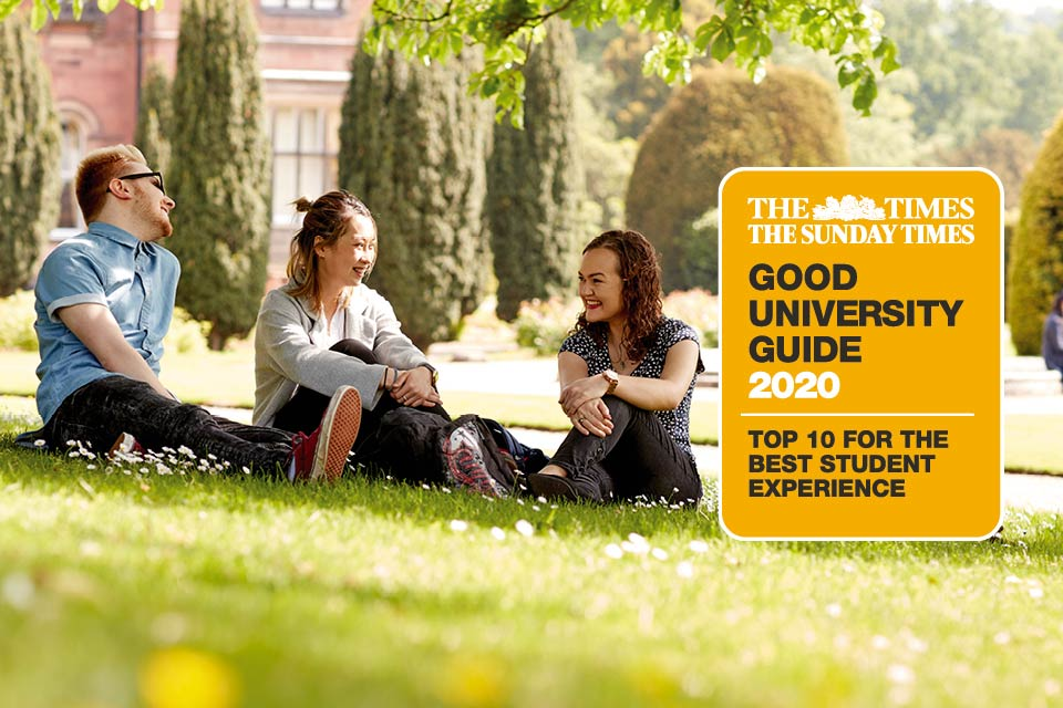Keele ranked in UK Top 10 for Student Experience