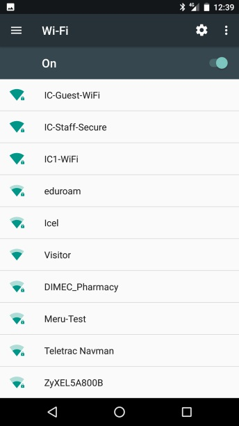 how to connect to eudoroam waterloo android