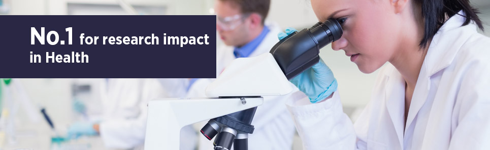 No.1 for research impact in Health