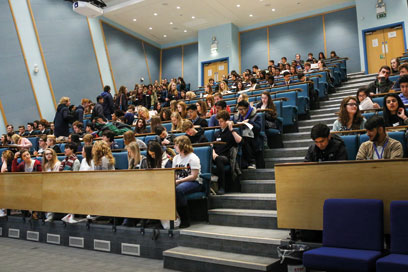 Lecture theatre in the David Weatherall building